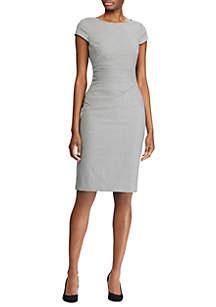 Lauren Ralph Lauren Houndstooth Cap Sleeve Dress