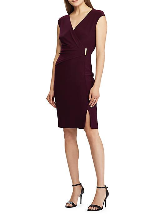 Lauren Ralph Lauren Gold Tone Pin Jersey Dress