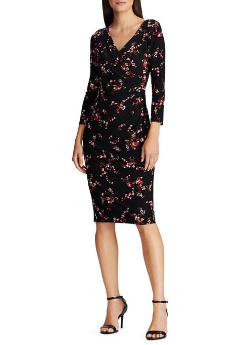 Lauren Ralph Lauren Floral Pleated Jersey Dress