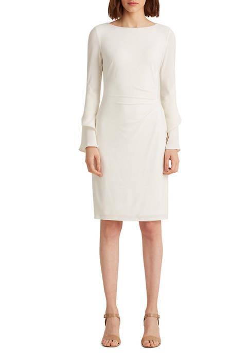 Lauren Ralph Lauren Crepe Bell-Sleeve Dress