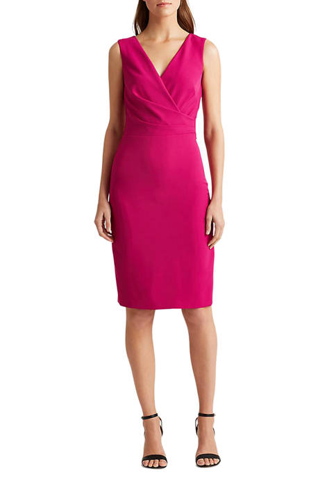 Lauren Ralph Lauren Crepe Surplice Dress