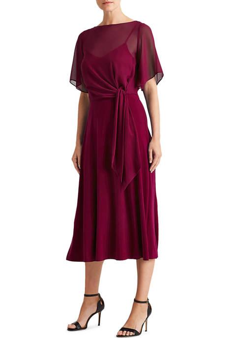 Lauren Ralph Lauren Jersey Fit-and-Flare Dress