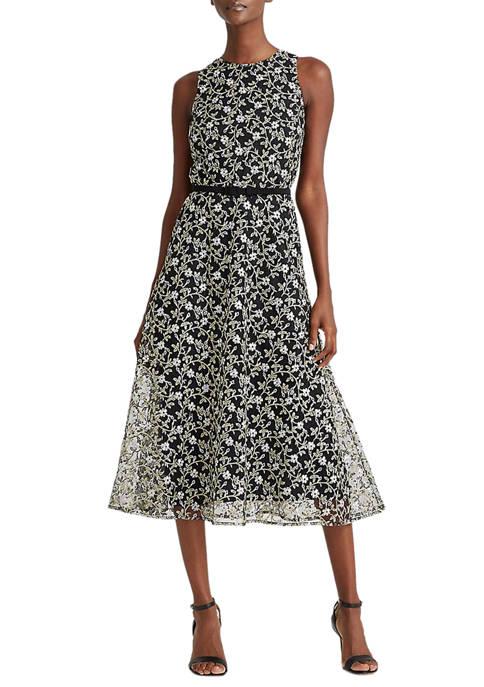 Lauren Ralph Lauren Belted Floral Dress
