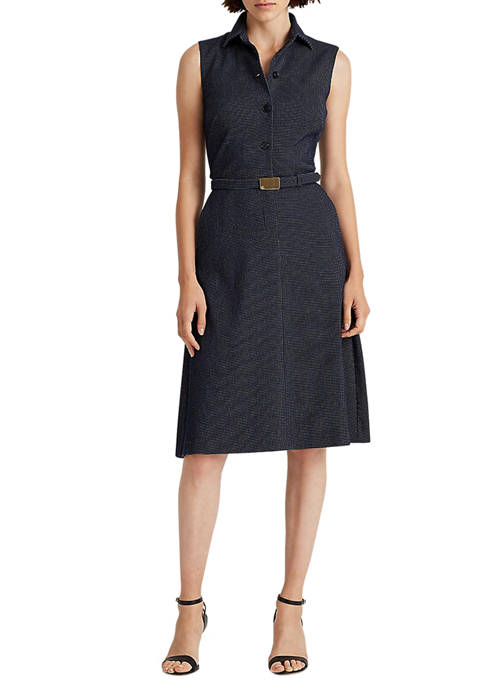 Lauren Ralph Lauren Belted Jacquard Shirtdress