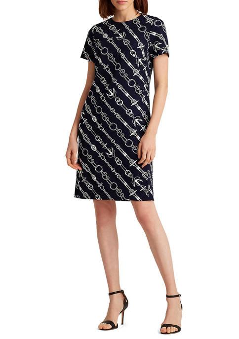 Lauren Ralph Lauren Anchor-Print Jacquard Dress