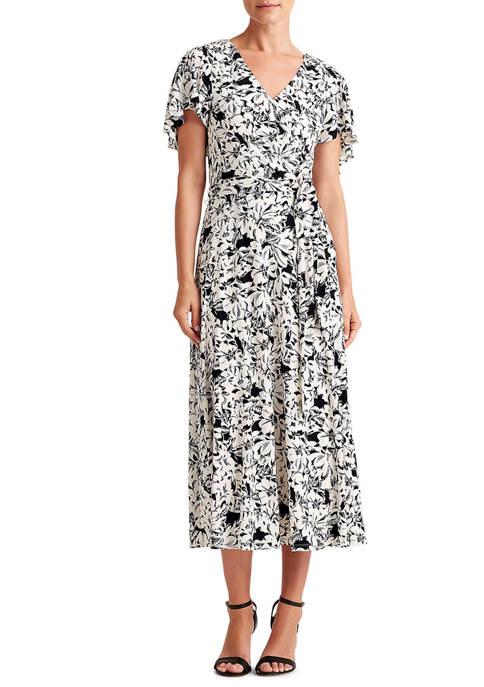 Lauren Ralph Lauren Womens Floral Jersey Dress
