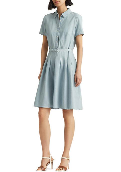 Lauren Ralph Lauren Chambray Short Sleeve Dress