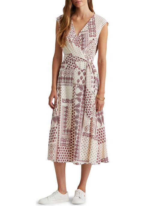 Lauren Ralph Lauren Bandanna-Print Crepe Midi Dress
