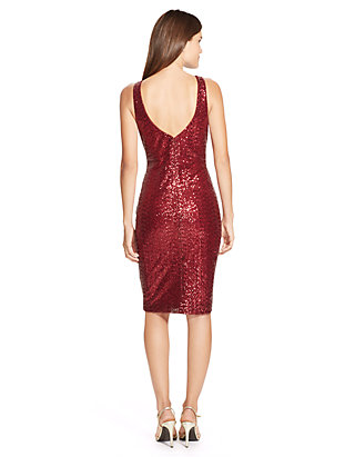 28ec1dd7b Lauren Ralph Lauren. Lauren Ralph Lauren Sequined Boat-Neck Dress