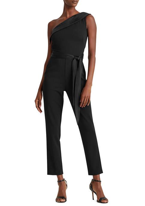 Lauren Ralph Lauren Sequin-Trim Jersey Jumpsuit