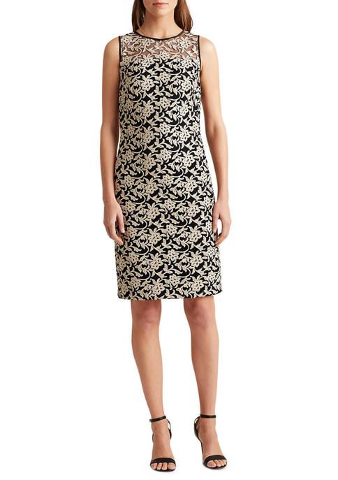 Lauren Ralph Lauren Metallic Floral Tulle Dress