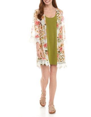 Belle Du Jour Junior S 2 Piece Kimono And Dress Set Belk