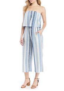 BeBop Strapless Stripe Popover Jumpsuit