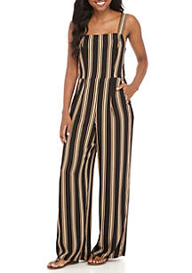 Full Length Stripe Jumpsuit