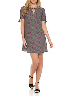 Pleat Front Woven Dress