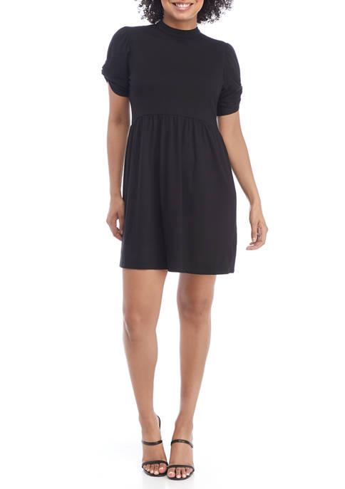 BeBop Juniors Short Sleeve Twist Front Flowy Dress