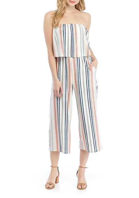 Strapless Stripe Popover Jumpsuit