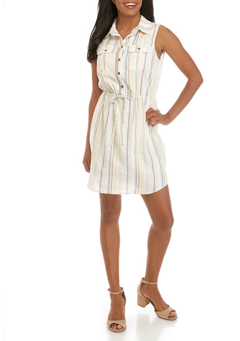 BeBop Juniors Linen Shirt Dress