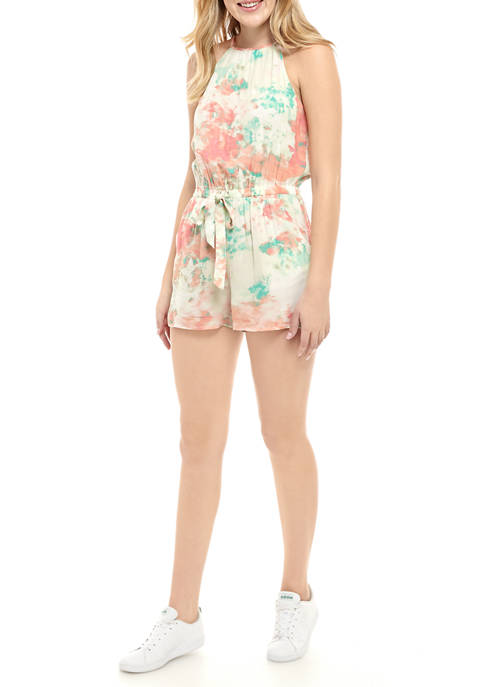 BeBop Juniors High Neck Tie Front Romper