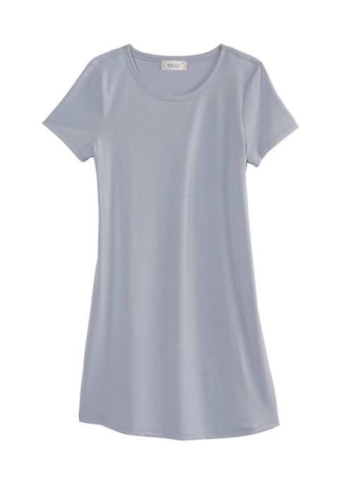 Short Sleeve Scoop Neck Dress