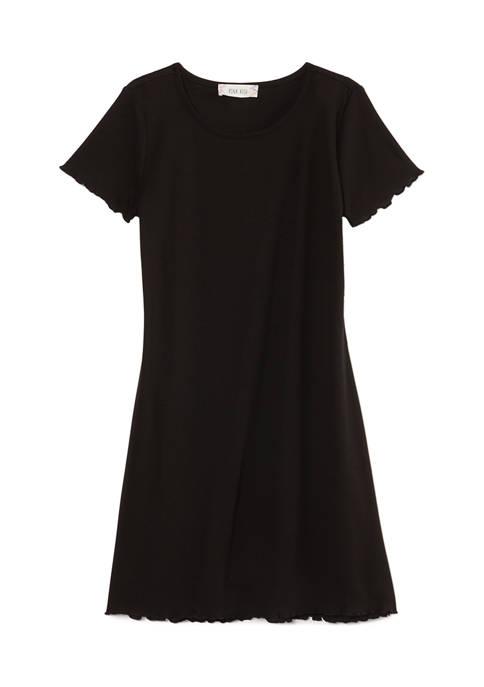 Pink Rose Short Sleeve V-Neck Dress