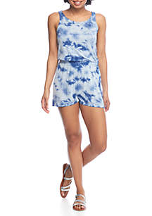 Tie Dye Romper  with Crisscross Back