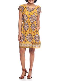 Short Sleeve Woven Dress