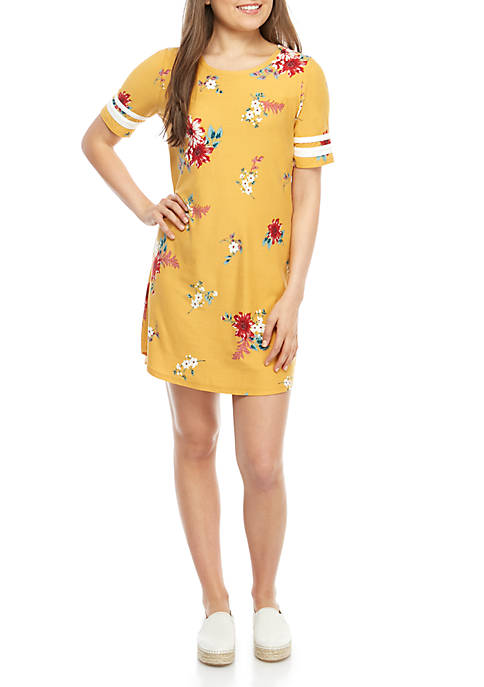 Short Sleeve Varsity Printed Yummy Dress
