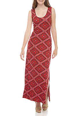 114bfc0699e0 Pink Rose Sleeveless Floral Maxi Dress ...