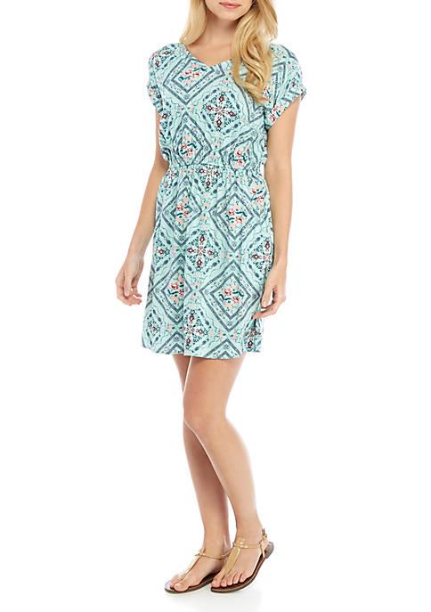 Short Sleeve Stripe Dress