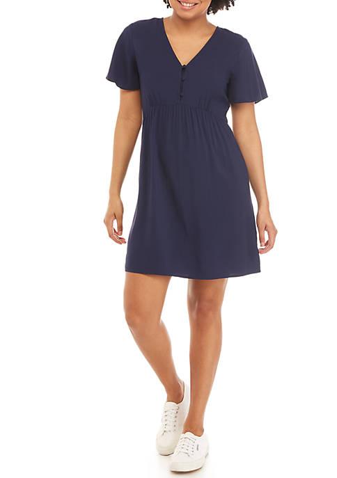 2 Button Chiffon Dress