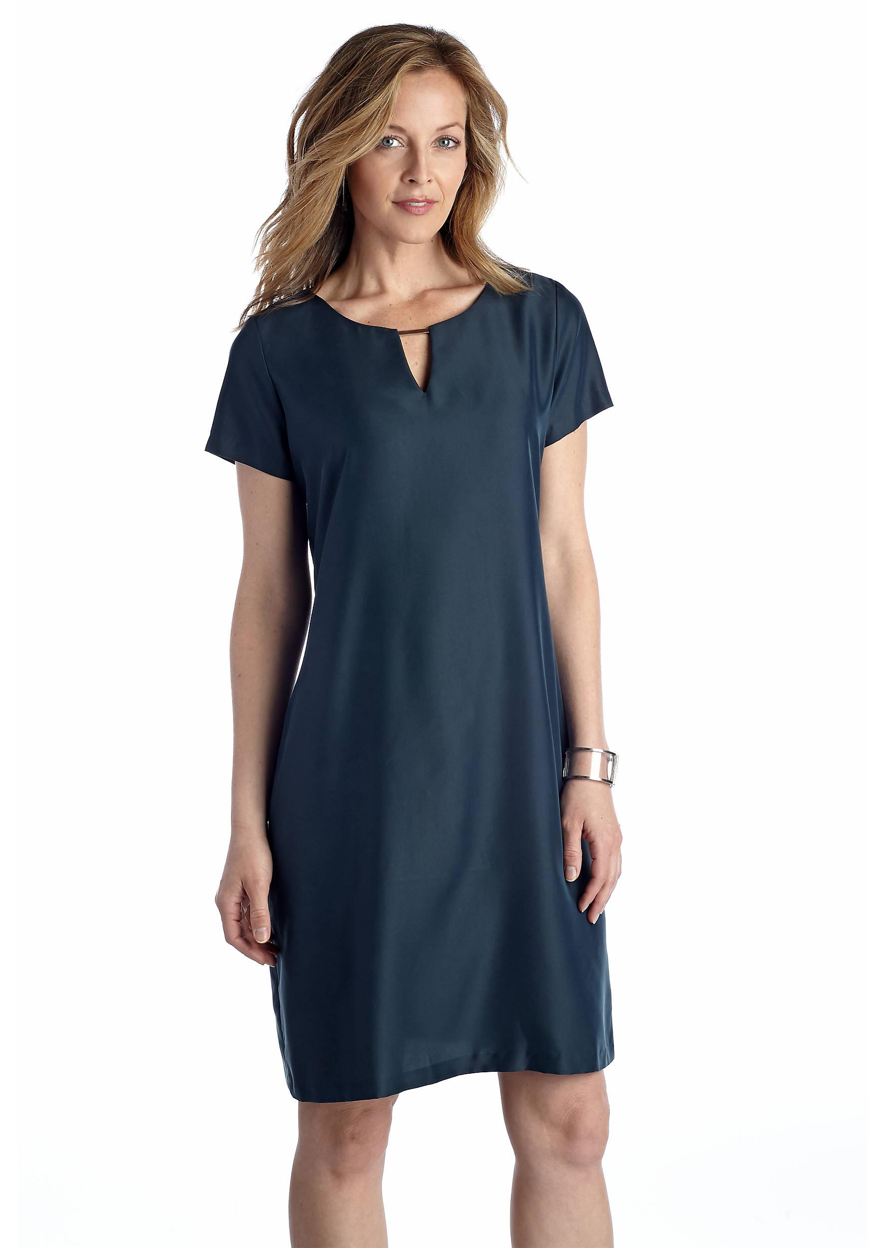Sharagano Keyhole Neck Shift Dress Belk