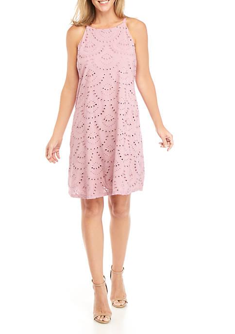 Luxology™ Halter Eyelet Dress