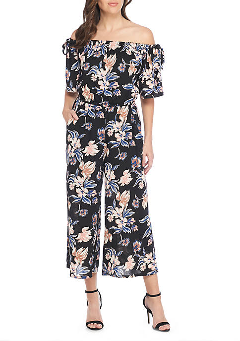 Luxology™ Off-The-Shoulder Floral Jumpsuit