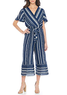 254f6719c5a ... Luxology™ Short Sleeve Stripe Jumpsuit