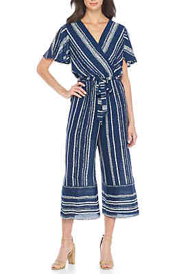 2c90e224c31c Wonderly Black Floral Jumpsuit · Luxology™ Short Sleeve Stripe Jumpsuit ...