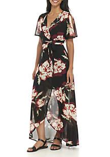 Floral Dolman Sleeve Dress