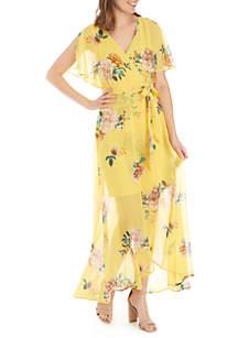Luxology™ Split Sleeve Floral Maxi Dress
