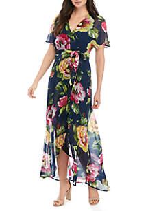 Luxology™ Dolman Sleeve Floral Maxi Dress
