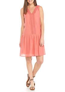 Cas Sleeveless Drop Waist Dress