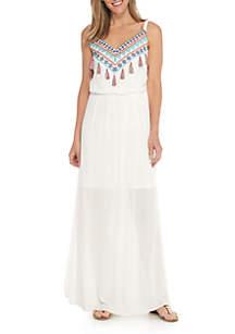 Strappy Tassel Maxi Dress