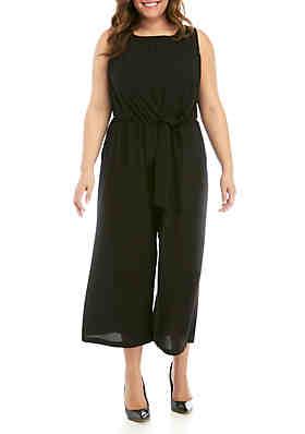 e54670f6561 Luxology™ Plus Size Sleeveless Knot Front Jumpsuit ...