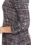 Womens 3/4 Sleeve Heather Cozy A Line Dress