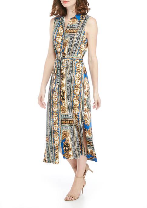 Emma & Michelle Womens Sleeveless Status Print Dress