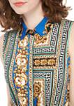 Womens Sleeveless Status Print Dress