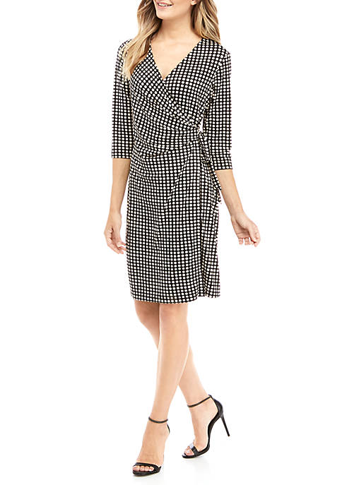 Emma & Michelle Womens Printed Wrap Dress
