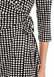 Womens Printed Wrap Dress