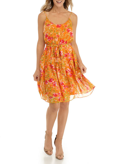 Emma & Michelle Womens Cami Floral Dress