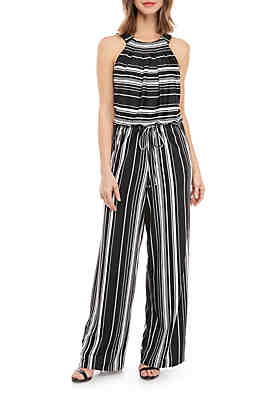 05605735bc51 Emma   Michelle Halter Top Stripe Jumpsuit ...