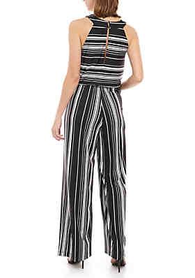 c77f9393c6a2 ... Emma   Michelle Halter Top Stripe Jumpsuit
